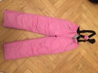 Girls Ski Salopettes dungarees age 8-10 BNWT