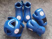 Kickboxing WCKA protective gear.