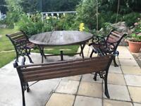 Garden patio table bench & seats