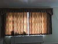 4 sets of curtains with pelmets and FREE blinds