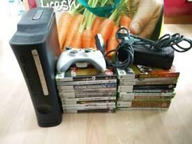 Xbox 360 Elite + games