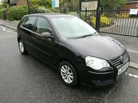 Volkswagen Polo 1.4 S 80 Hatchback, 5 Doors 2007, Petrol Manual Black, Only 88918 miles. SALE £2295