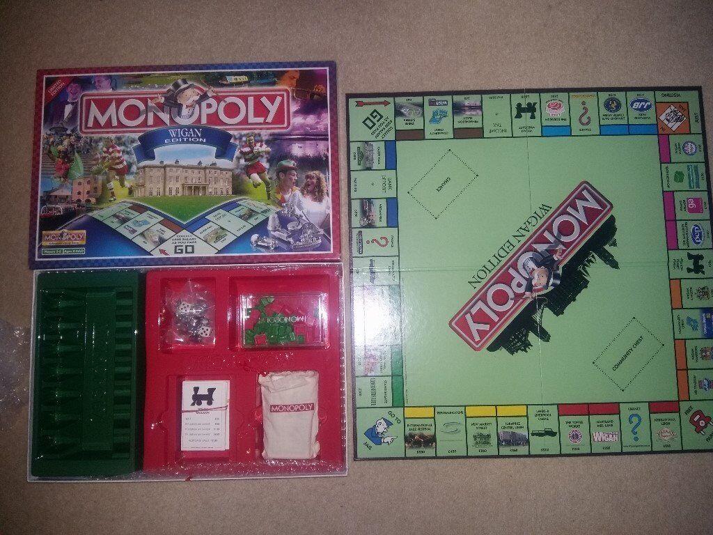 Wigan Edition Monopoly board game