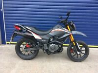 LATE REGISTERED 2016 KEEWAY TXM 125cc SUPERMOTO , HPI CLEAR , VERY TIDY , LOW MILES
