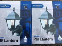 PIR 4 sided Lantern x 2 matching