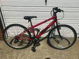 Boys Reflex Arrow Red Mountain bike 18 speed