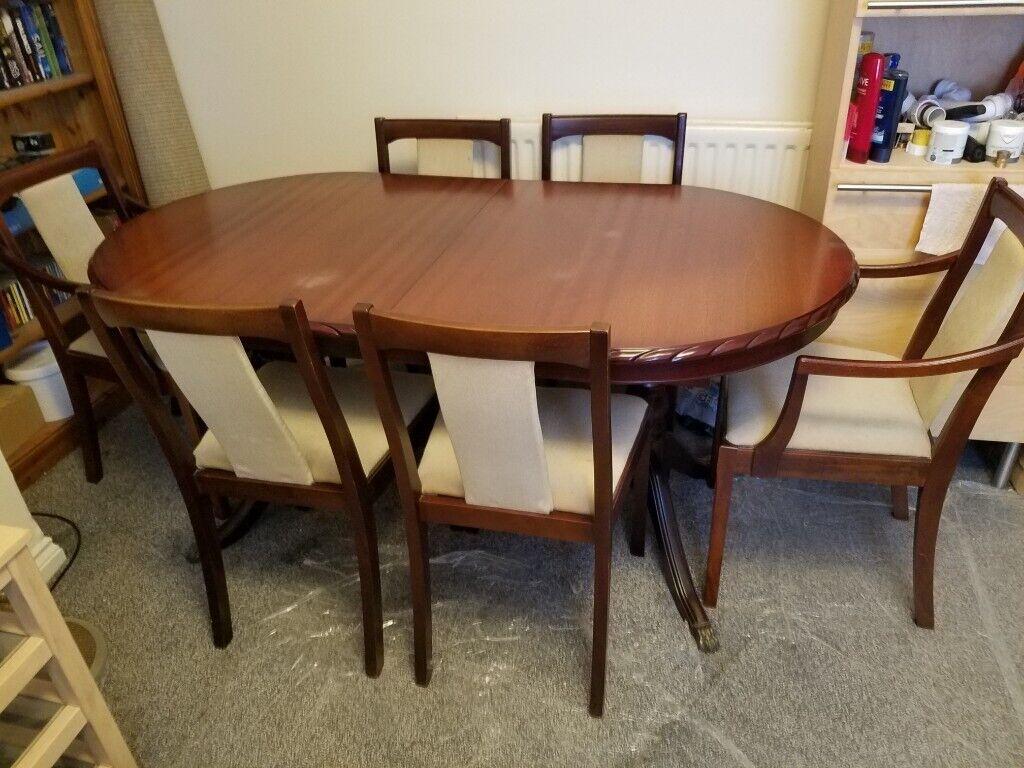 Brilliant Beautiful Solid Cherry Dining Table And 6 Chairs In Stanley County Durham Gumtree Download Free Architecture Designs Grimeyleaguecom