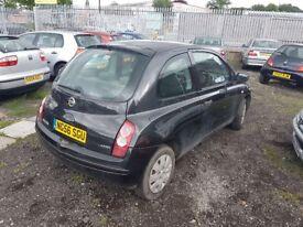2006 Nissan Micra E Initia 1.2 Petrol 3 Door - MOT October 2017 - 56553 Miles - Spare or Repair