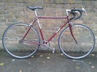 Burgundy Red Falcon Single Speed. Vintage Frame