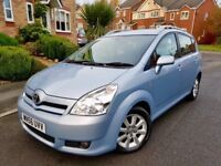 TOYOTA COROLLA VERSO T SPRIT D4D 2.2 DIESEL 84000 MILE ALLOY CRUISE 7 SEATER 6 SPEED GEAR £2990