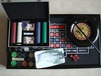 Monte Carlo Nights Deluxe Gaming Set. Roulette, Backgammon, Craps, Excellent Condition.