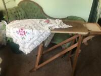 Vintage 1920-1940 wooden ironing board