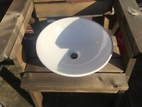 White round ceramic sink for sale £15 previously used