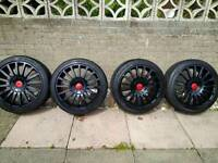 Alloy wheels ford st 18 inch alloys with new tyres