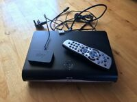 Sky HD box, cables and WiFi link