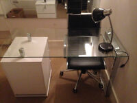 MUST GO THIS WEEK - Amazing quality FULL OFFICE SUITE - desk with drawers, chair and lamp!