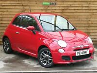 Fiat 500 1.2 S 3dr FULL SERVICE HISTORY (pasodoble red) 2014