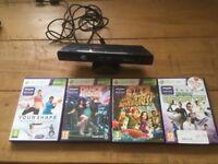Xbox 360 Kinect plus 4 games