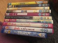 Selection of children's DVD s