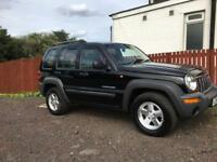 **4X4**JEEP CHEROKEE CRD SPORT 2.5 DIESEL LOW MILIES,LONG MOT, TIMING BELT AND WATER BUMP CHANGED