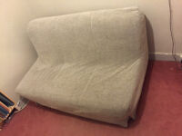 Ikea Lycksele Beige Double Sofa Bed Settee Futon Couch Daybed - Excellent Condition