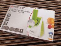 AMBIANO electric multi slicer and sorbet maker NEW IN BOX!!