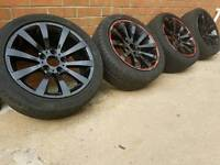 "17"" BMW ALLOYS AND TYRES 5X120 VW T5"