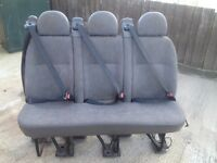 Ford Transit Rear Triple Seat With Belts