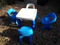 Little Tikes Childrens Kids Table and Chairs
