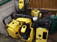 5 x karcher pressure washers spares or repairs