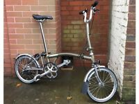 Brompton TITANIUM SUPERLIGHT X LIGHT FOLDING BICYCLE raw lAcQuer raw Lacquer bromton bike pushbike