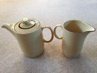 Poole Pottery Broadstone coffee jug and large milk jug