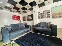 Black and grey 3+2 seater sofa set