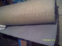 CARPET In PALE BLUE 11 by 7 feet ,TOUGH THICK PILE, WOULD COVER a MEDIUM SIZED ROOM