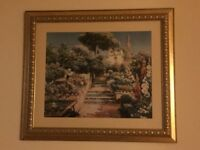 Framed Art work Gold Frame Landscape