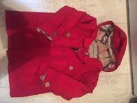 Burberry red coat