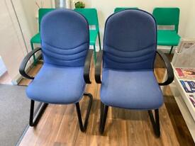 Office / waiting room chairs x 2
