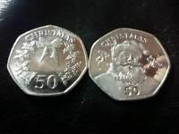 50p Gibraltar Christmas coins