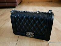 Chanel boy Leather designer clutch not gucci fendi LV valentino + all colours