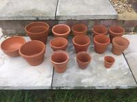 20 vintage terracotta pots Assorted Sizes With No Cracks collection hedge end