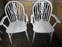 Two Wheelback Carver Chairs