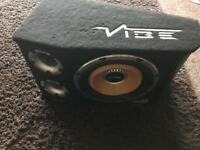 12 inch Vibe 1600 watt subwoofer with built in amp