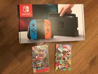 Brand new Nintendo switch with the 2 best games full warranty and receipt