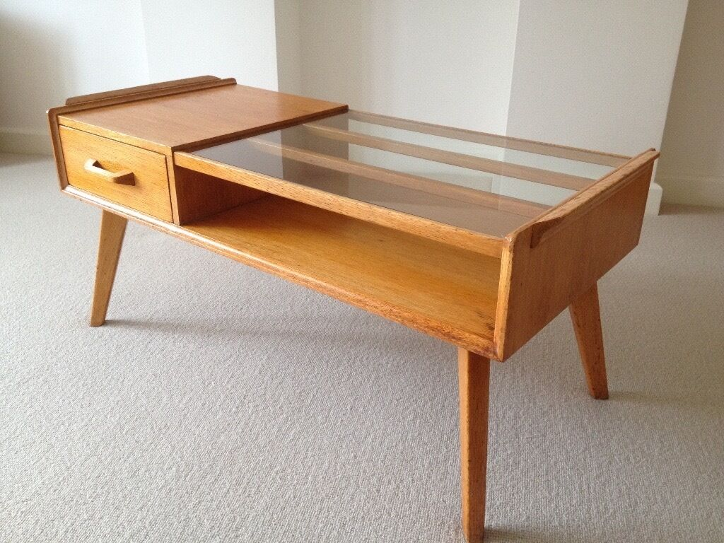 G plan retro vintage 50s brandon e gomme oak coffee table for G plan dining room furniture sale