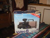 SONY VINTAGE CAMCORDER VIDEO 8 MODEL CCD V7 AF AS NEW BOXED