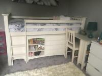 Child's Cabin Bed with storage, desk and chair by Julian Bowen