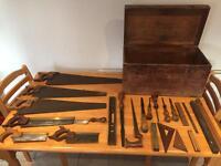 Retro vintage old tools