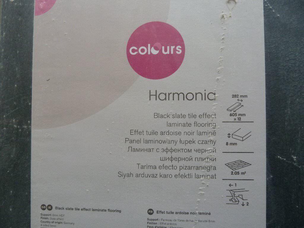 Laminate Floor Tiles New Black Slate Effect