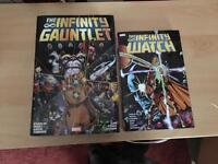 Marvel Infinity gauntlet and infinity watch books