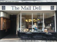 "Cafe/Deli Assistant needed for weekday ""Lunch cover"" shifts (11-3/12-4) at The Mall Deli, Clifton"